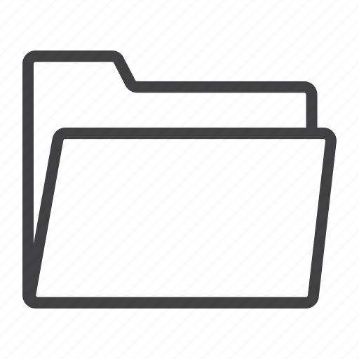 archive, file, folder, information, mobile, open, web icon