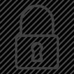 lock, mobile, padlock, password, private, security, web icon