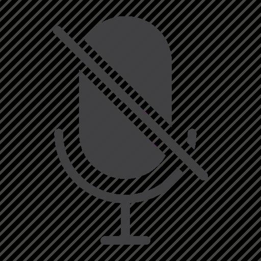 app, microphone, mobile, no, record, sound, web icon