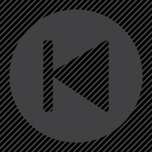 app, circle, mobile, music, previous, video, web icon
