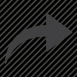 arrow, back, direction, mobile, next, redo, web icon