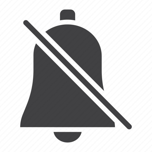 alarm, bell, mobile, mute, off, silent, web icon