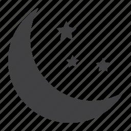 bedtime, mobile, moon, night, sleep, stars, web icon