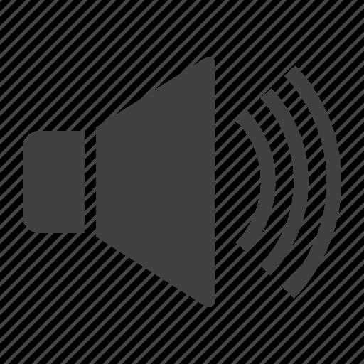 audio, music, noise, sound, speaker, voice, volume icon