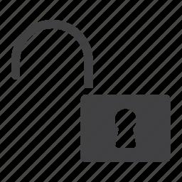 internet, key, mobile, padlock, security, unlock, web icon