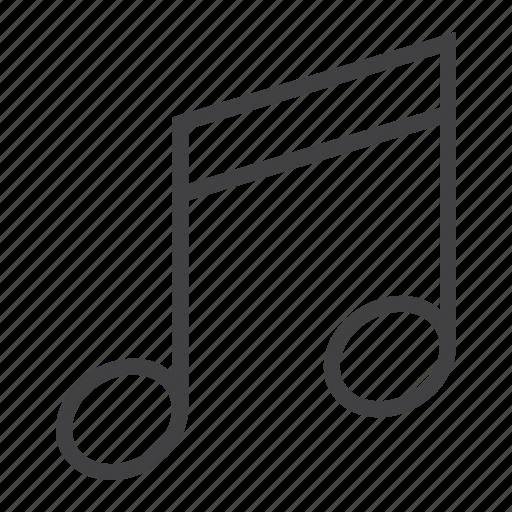 app, key, mobile, music, note, sound, web icon