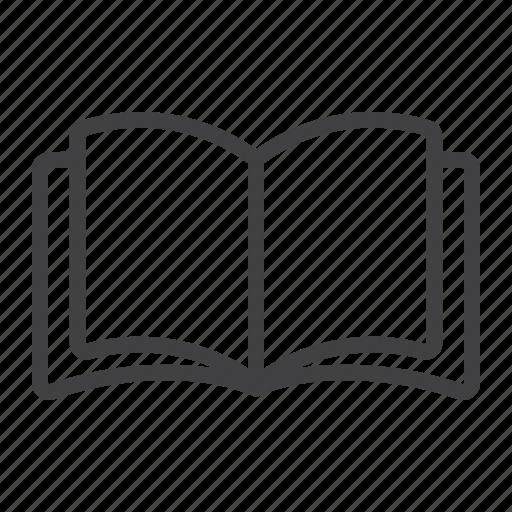 book, education, mobile, mode, open, read, web icon