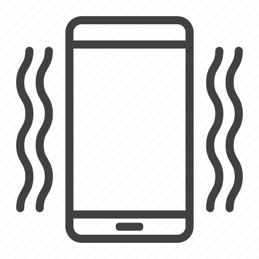 call, cell, mobile, phone, sound, vibrating, web icon