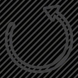 arrow, mobile, reboot, refresh, reload, reset, web icon