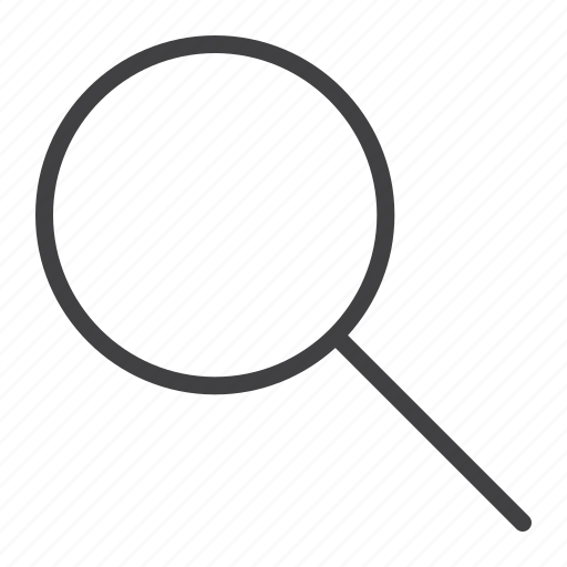 find, glass, look, magnifying, mobile, search, web icon