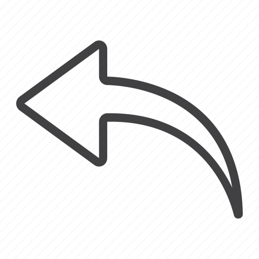 arrow, back, direction, mobile, previous, undo, web icon