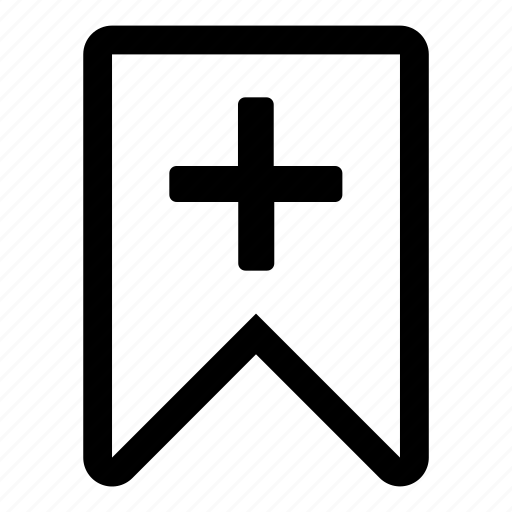 add, bookmark, create, mark, new, read later, tiny2 icon