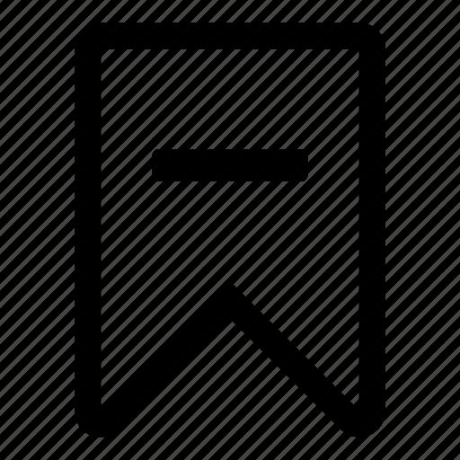 bookmark, delete, mail, remove, tiny2, unmark icon