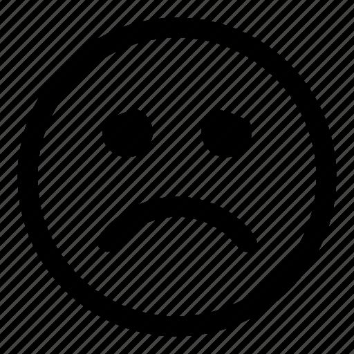 depressed, emoji, emoticon, emotion, sad, smiley, tiny2 icon