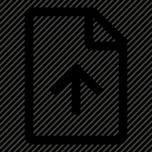 document, file, save, storage, tiny2, upload icon
