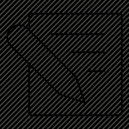 document, edit, memo, note, pencil, post icon