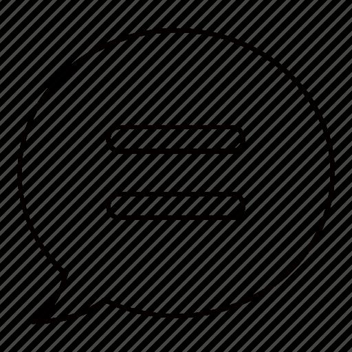 bubble, communication, instant, message icon