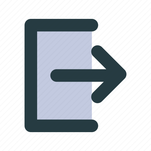 asteroid, exit, logout, out, sign out icon