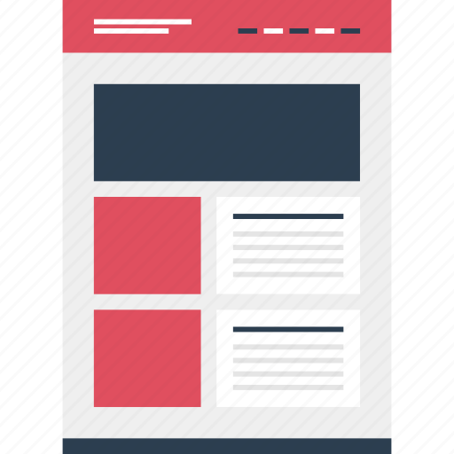 article, mockup, news, online, photo, website, wide icon