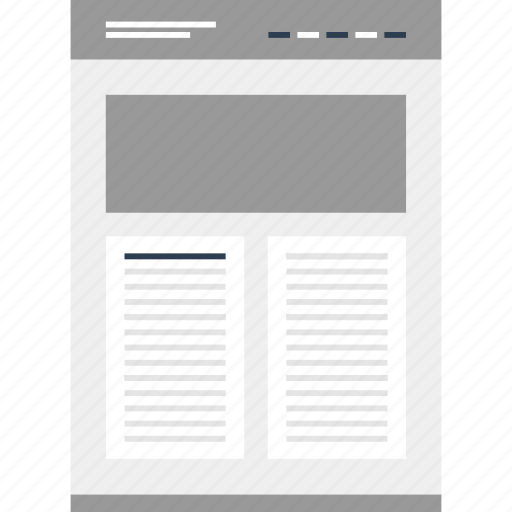 column, double, layout, mockup, online, post, website icon