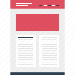 column, double, mockup, online, post, website icon
