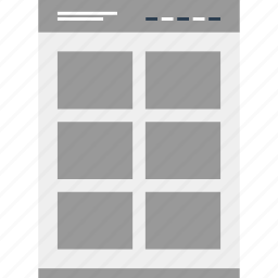 gallery, mockup, online, website icon