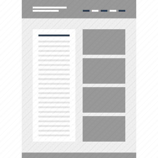 mockup, news, newsletter, online, page, website icon