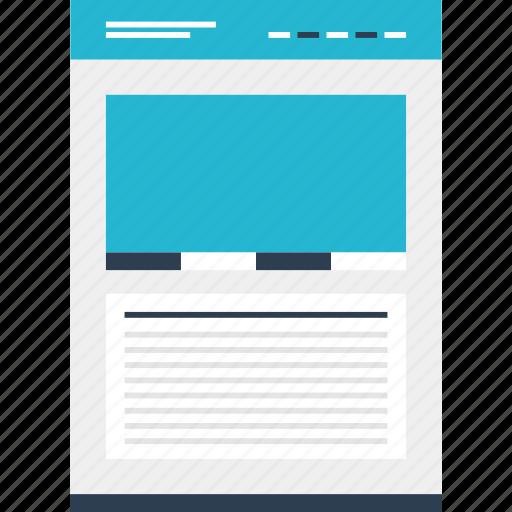 large, mockup, online, photo, website icon