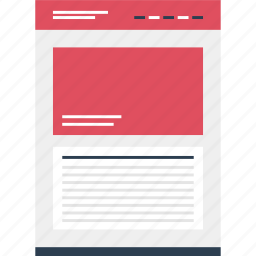 large, mockup, online, page, photo, web, website icon