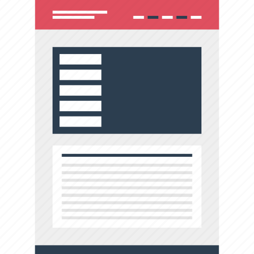 Left, mockup, online, photo, quicklinks, side, website icon - Download on Iconfinder