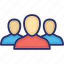 colleagues, group, people, team, users icon