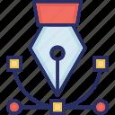 create, creative, curve tool, design, pen tool icon