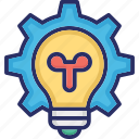 brainstorming, bulb, creativity, idea, strategy icon