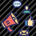 advertising, internet, marketing, publisher, web icon