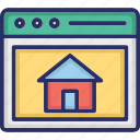 home, home page, page, web, website icon