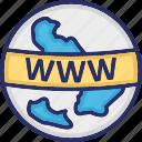 internet, web, world wide web, www icon