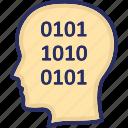 binary code, development, programmer, programming, web icon