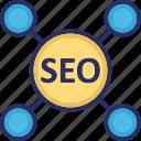 marketing, optimization, search engine, seo, web icon
