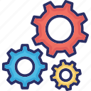 configuration, gear, setting, updating, upgrading icon