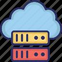 cloud, cloud server, server, storage, web icon