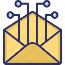 email, mail, marketing, network email, send icon