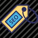 affiliate, coupon, marketing, seo, tag icon