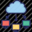 cloud, computing, network, sharing, web icon