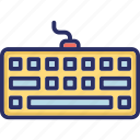 computer, computer accessories, hardware, keyboard, typing icon