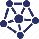 connections, molecule, network, structure, web structure icon