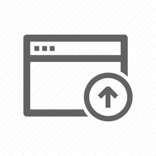 arrow, page, up, upload, web, web page icon
