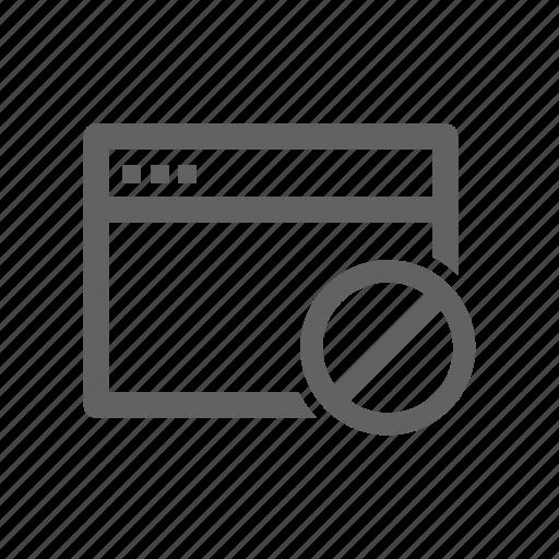 block, error, page, warning, web, web page icon