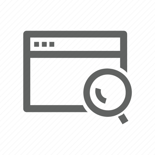 magnify, magnify glass, page, search, web, web page icon
