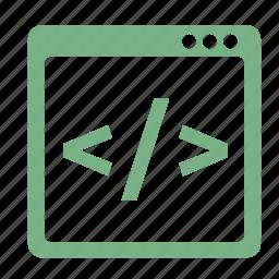 html, optimization, seo icon