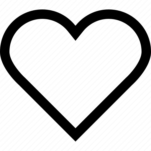 empty, favorite, heart, love, valentine's day icon